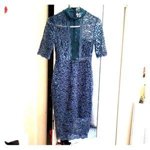 Express lace cut-out dress